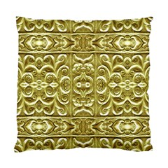 Gold Plated Ornament Cushion Case (two Sided)  by dflcprints