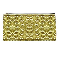 Gold Plated Ornament Pencil Case by dflcprints