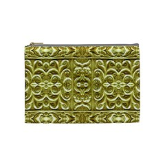 Gold Plated Ornament Cosmetic Bag (medium)