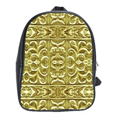 Gold Plated Ornament School Bag (large)