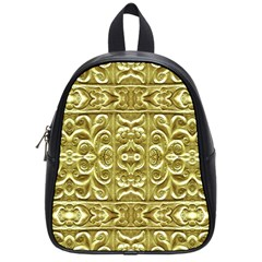Gold Plated Ornament School Bag (small) by dflcprints