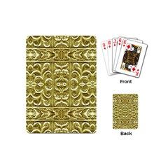 Gold Plated Ornament Playing Cards (mini) by dflcprints