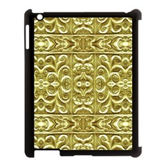 Gold Plated Ornament Apple Ipad 3/4 Case (black) by dflcprints
