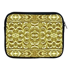 Gold Plated Ornament Apple Ipad Zippered Sleeve by dflcprints