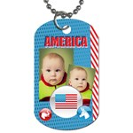 usa - Dog Tag (One Side)