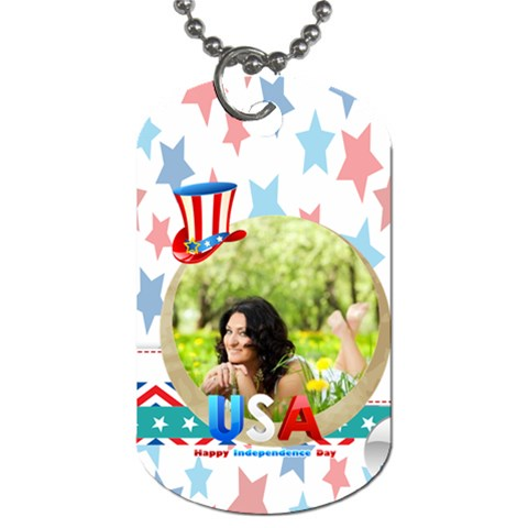 Usa By Usa   Dog Tag (one Side)   Bratfdi6vrzn   Www Artscow Com Front