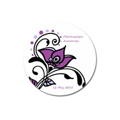 2015 Awareness Day Magnet 3  (round) by FunWithFibro