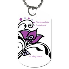 2015 Awareness Day Dog Tag (two Sided)  by FunWithFibro