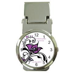2015 Awareness Day Money Clip With Watch by FunWithFibro