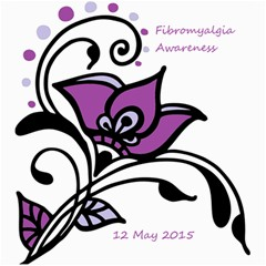 2015 Awareness Day Canvas 12  X 12  (unframed) by FunWithFibro