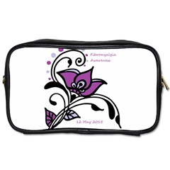 2015 Awareness Day Travel Toiletry Bag (two Sides) by FunWithFibro