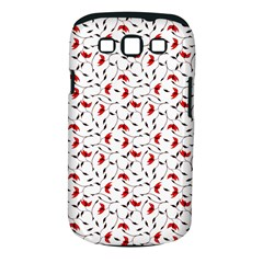Delicate Red Flower Pattern Samsung Galaxy S Iii Classic Hardshell Case (pc+silicone) by CreaturesStore