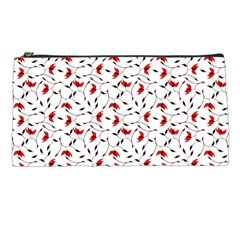 Delicate Red Flower Pattern Pencil Case by CreaturesStore