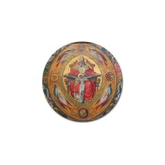 Cologne Cathedral - Altar of the Poor Clares Golf Ball Marker by stineshop