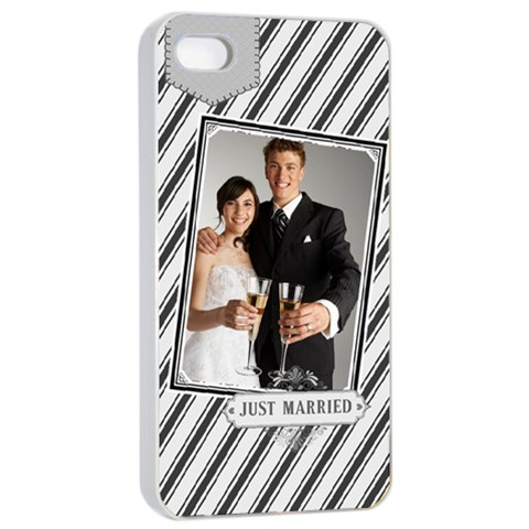 Wedding By Paula Green   Apple Iphone 4/4s Seamless Case (white)   Wqxxq4owc2sa   Www Artscow Com Front