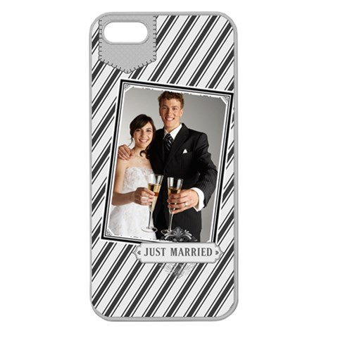Wedding By Paula Green   Apple Seamless Iphone 5 Case (clear)   Oco0ahh07zhl   Www Artscow Com Front