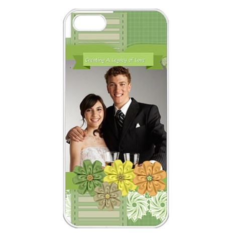 Wedding By Paula Green   Apple Iphone 5 Seamless Case (white)   Okma00selu5p   Www Artscow Com Front