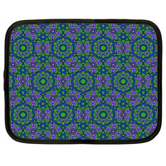 Retro Flower Pattern  Netbook Sleeve (xl) by SaraThePixelPixie