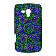 Retro Flower Pattern  Samsung Galaxy Duos I8262 Hardshell Case  by SaraThePixelPixie