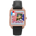 usa - Rose Gold Leather Watch