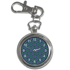 Retro Flower Pattern  Key Chain Watch by SaraThePixelPixie
