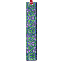 Retro Flower Pattern  Large Bookmark by SaraThePixelPixie
