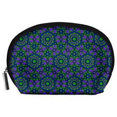 Retro Flower Pattern  Accessory Pouch (large) by SaraThePixelPixie