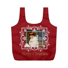 Xmas By May   Full Print Recycle Bag (m)   Nle19sogc6p8   Www Artscow Com Front