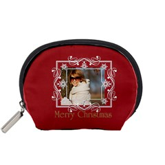 Xmas Gift By May   Accessory Pouch (small)   O63iwv7ynak1   Www Artscow Com Front