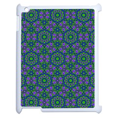 Retro Flower Pattern  Apple Ipad 2 Case (white) by SaraThePixelPixie