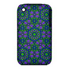 Retro Flower Pattern  Apple Iphone 3g/3gs Hardshell Case (pc+silicone) by SaraThePixelPixie