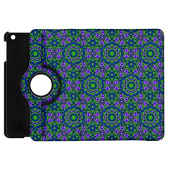 Retro Flower Pattern  Apple Ipad Mini Flip 360 Case by SaraThePixelPixie