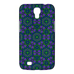 Retro Flower Pattern  Samsung Galaxy Mega 6 3  I9200 Hardshell Case by SaraThePixelPixie