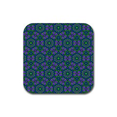 Retro Flower Pattern  Drink Coaster (square) by SaraThePixelPixie