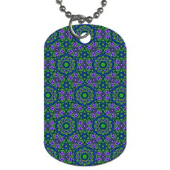 Retro Flower Pattern  Dog Tag (two Sided)  by SaraThePixelPixie