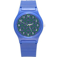 Retro Flower Pattern  Plastic Sport Watch (small) by SaraThePixelPixie