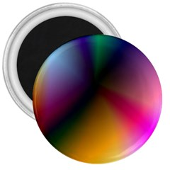 Prism Rainbow 3  Button Magnet by StuffOrSomething