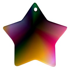 Prism Rainbow Star Ornament by StuffOrSomething