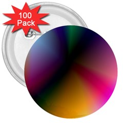 Prism Rainbow 3  Button (100 Pack) by StuffOrSomething