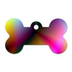 Prism Rainbow Dog Tag Bone (one Sided)