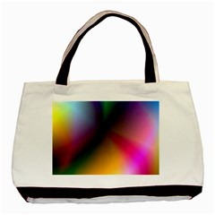 Prism Rainbow Twin Sided Black Tote Bag by StuffOrSomething