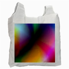 Prism Rainbow White Reusable Bag (two Sides) by StuffOrSomething