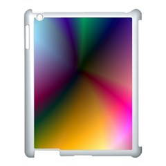Prism Rainbow Apple Ipad 3/4 Case (white) by StuffOrSomething