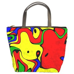Abstract Bucket Handbag by Siebenhuehner