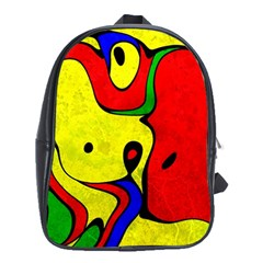 Abstract School Bag (xl) by Siebenhuehner