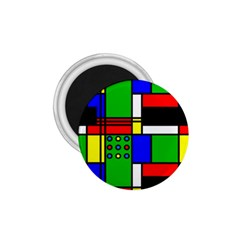 Mondrian 1 75  Button Magnet by Siebenhuehner