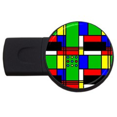 Mondrian 2gb Usb Flash Drive (round) by Siebenhuehner