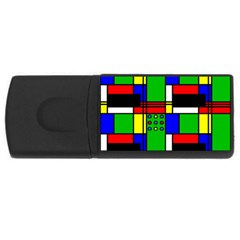 Mondrian 4gb Usb Flash Drive (rectangle) by Siebenhuehner