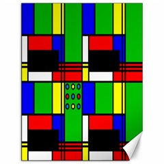 Mondrian Canvas 12  X 16  (unframed) by Siebenhuehner