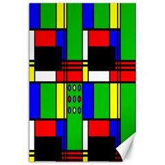 Mondrian Canvas 24  X 36  (unframed) by Siebenhuehner